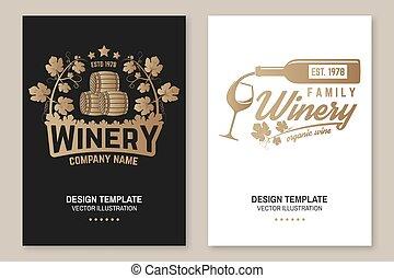 hinder, business., vintillverkare, glasögon, mall, pub, card...