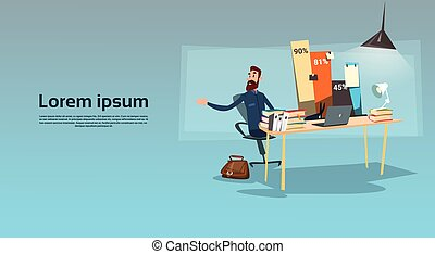 hinder, finans, kontor, sittande, graf, skrivbord, affär,  Workplace, statistik,  data,  man