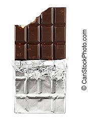 hinder, isolerat, choklad, florett, bakgrund, vit