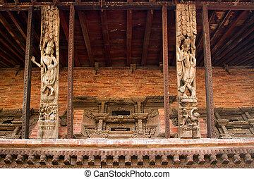 hindoe, nepal, tempel