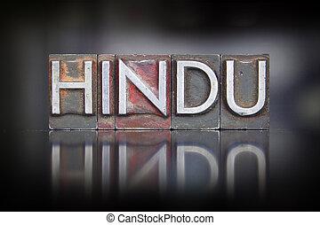 hindou, letterpress