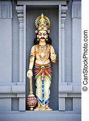 hindou, pierre, sculpture, temple