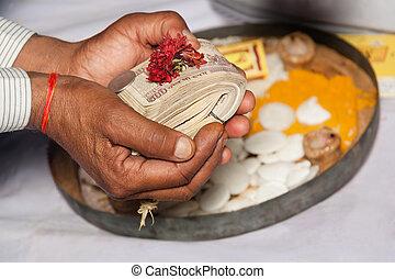 hindou, rituel, inde, mariage