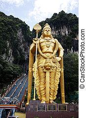 hindu, batu, cavernas, templo