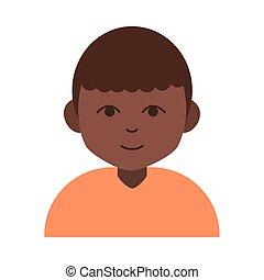 hindu boy cartoon character flat icon