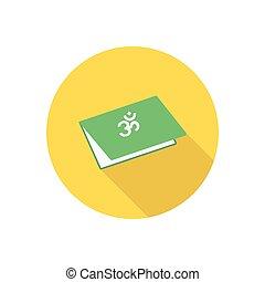 hindu  flat color icon