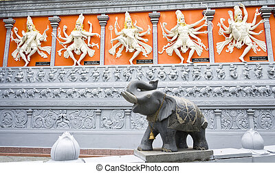 hindu, götter, und, elefant