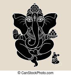 hindu, ganesha, gud