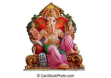 Hindu God Ganesha idol for offering prayers for 11 days during chathurthi festival and immerse in water bodies