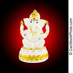 Hindu God Ganesha over background