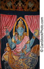 Hindu god Shiva - Anciend portrait of Lord Shiva the Creator...