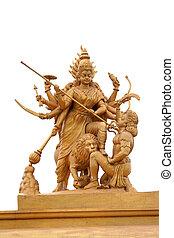 Hindu godess Kali - Powerful hindu godess Kali statue in...