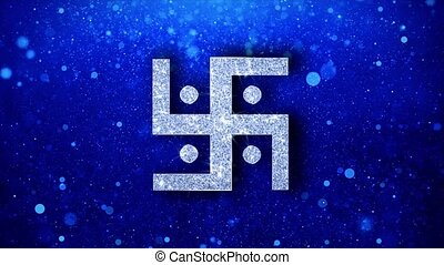 Hindu, holy, indian, religion, Icon Blinking Glitter Glowing...