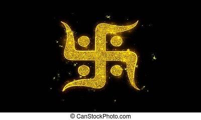 Hindu, holy, indian, religion, swastika, swastika Icon...