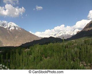 Hindu Kush mountains in Afghanistan - View of the Hindu Kush...