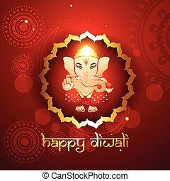 hindu lord ganesh illustraton