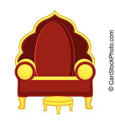 Hindu Royal Throne Vector