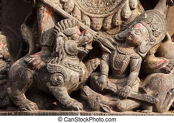 hindu sculpture detail