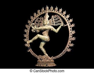Shiva dancing over maya demon - Hindu statue of Shiva...