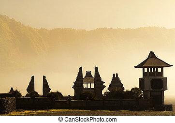 Hindu temple beside Mt. Bromo, Indonesia - Pura Luhur Poten ...