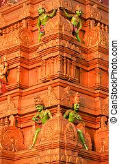 Hindu temple exterior wall