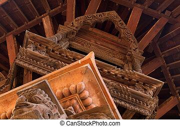 Hindu temple framework detail