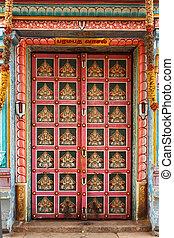Hindu temple gates. Sri Ranganathaswamy Temple....