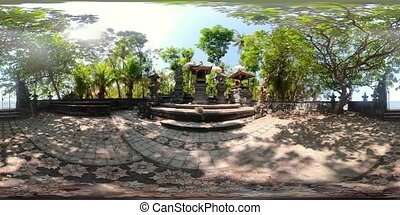 hindu temple in Bali vr360 - vr360 hindu temple with altar...