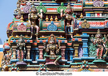 Hindu Temple in Bangkok, Thailand. - Hindu Temple - one of...