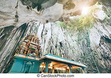 Hindu Temple in Batu Caves - Hindu temple in the middle of ...