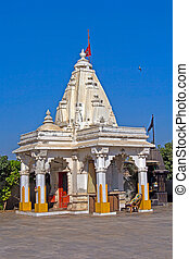 Hindu temple of Goddess Durga - Porbandar. Hindu temple of...