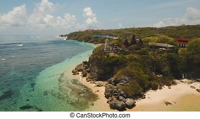 Hindu temple on the island Bali,Indonesia. - Aerial view of...