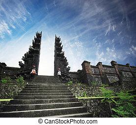 Pura - Hindu temple Pura Agung. Bali. Indonesia