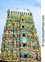 Hindu Temple Sri Lanka - The tower of a Hindu Temple...