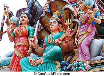 hinduism, estátuas
