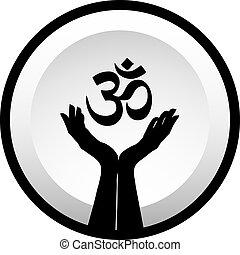 hinduism, símbolo, faith-