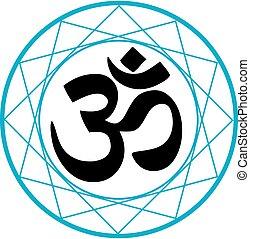 hinduismus, symbol, religiöses