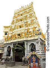 hinduistischer tempel, eingangstür