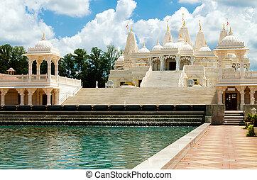 hinduistischer tempel, in, atlanta, ga