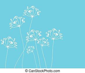 hinojo, flor