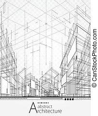 hintergrund, abstrakt, architektonisch