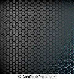 hintergrund, abstrakt, backlight., dunkel blau