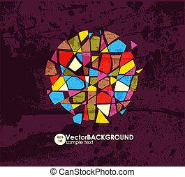 hintergrund., abstrakt, bunte, vector.