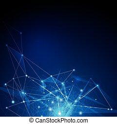 hintergrund, abstrakt, -, moleküle, technologie, ...
