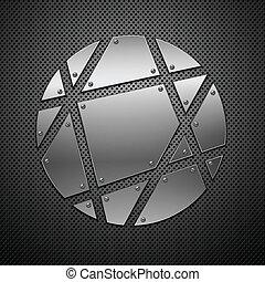 hintergrund., abstrakt, vektor, metall, illustration.
