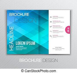 hintergrund, abstraktes design, schablone, broschüre, geometrisch