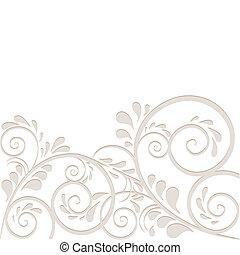 Hintergrund aus Ornamneten in beige - Hintergrund aus...