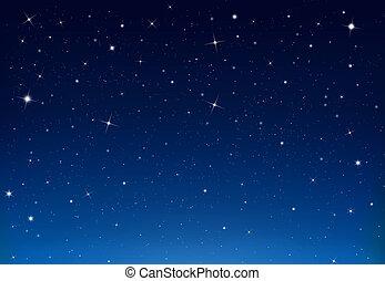 hintergrund, blaues, starry