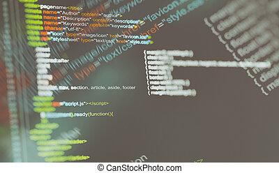 hintergrund., code, programing