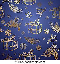 hintergrund., design, seamless, weihnachten, element